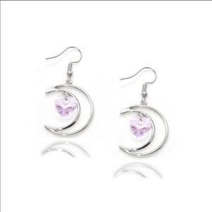 🌙Pink Love Moon Earrings!
